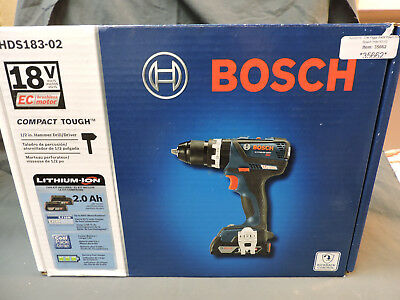 """New in Box HDS183-02 Bosch 18v Lithium 1/2"""" Drive Hammer Drill Driver"""