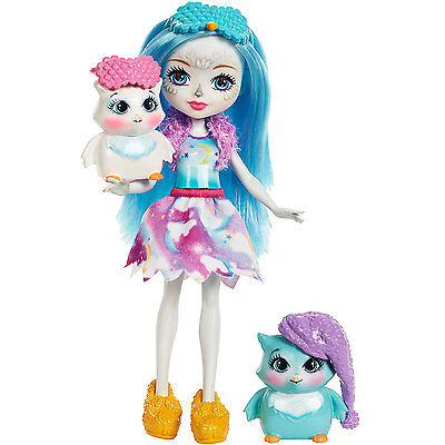 Enchantimals Sleepover Night Owls Doll Set *BRAND NEW*
