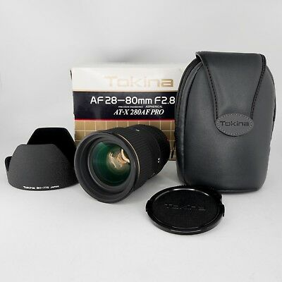 Tokina AF 28-80mm f/2.8 SD AT-X 280AF Pro Zoom Lens for Minolta M/A