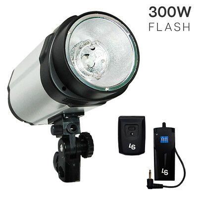 Photography Studio 300W Flash Strobe Lighting Head Unit w/ Trigger & Receiver
