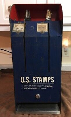 Vintage Selectra S70-2 US Postage Stamp Vending Machine - USPS Collection Box