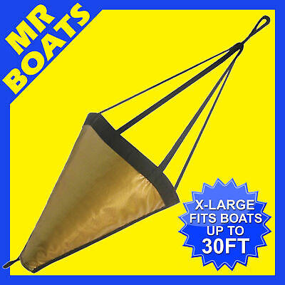 SEA ANCHOR - X-LARGE - Suits < 9m 30FT BOAT H/DUTY PVC DRIFTING BRAKE FREE POST