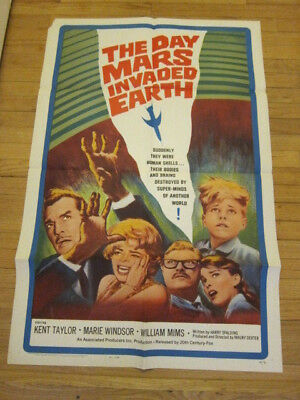DAY MARS INVADED EARTH original 1963 sci fi poster