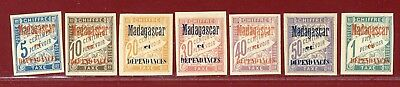 Malagasy Republic 1896 #J1-7, Postage Dues, Mint, Hinged, OG, SCV $218.50