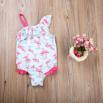 Toddler Baby Kids Girls Flamingo Bikini Swimwear Swimsuit Bathing Suit Beachwear