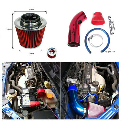 High Quality Aluminum Alloy Car Cold Air Intake Pipe &Filter w/Clamp+Accessories