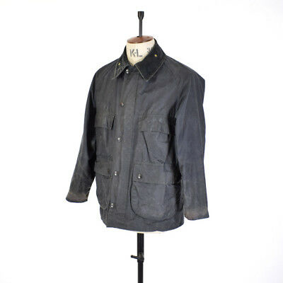 Black BEDALE  BARBOUR Waxed Cotton Shooting Outdoor Belted Sport Jacket 38