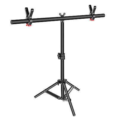 Neewer T-shape Studio Background Backdrop Support Stand Kit with 2 Tight Clamps