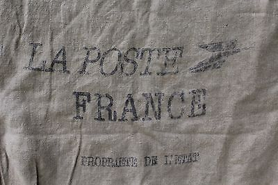 A Vintage French Canvas La Poste Sack Industrial Upholstery Fabric Project Ref C