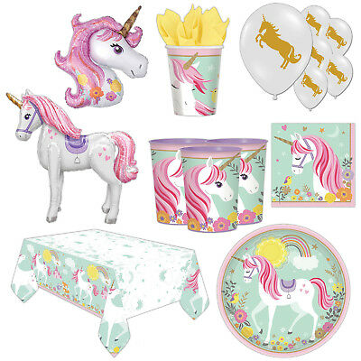 Magical Fairytale Mythical Unicorn Children's Birthday Party Supplies Tableware
