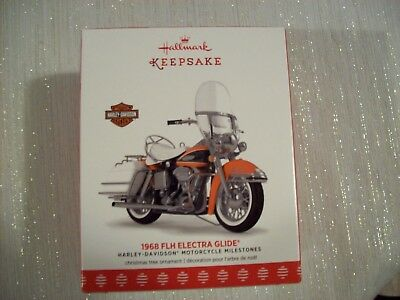Hallmark 2017 Ornament 1968 Flh Electra Glide Final In The Harley-Davidson Serie
