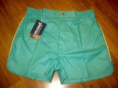 NEW Old Stock Vtg 70s Vanderbilt GREEN Striped Mens MEDIUM Tennis Track shorts M