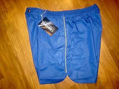 NEW Old Stock Vtg 70s Vanderbilt BLUE Striped Mens MEDIUM Tennis Track shorts M