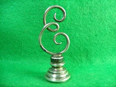 """Antique 19th Century Sterling Silver """"Evelyn"""" Sealing Wax Stamp Seal"""