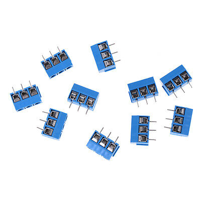 10X KF301-3P Pitch 5.0mm Straight Pin PCB 3Pin Screw Terminal Block Connector JR