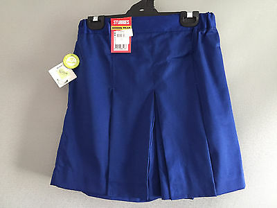 BNWT Senior Girls Royal Blue Stubbies Sz 10A School Uniform Skort Style Culottes