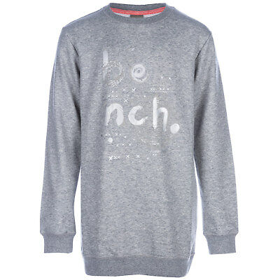 Infant Girls Bench Said Long Sweat In Grey-Ribbed Cuffs, Collar And Hem-Crew