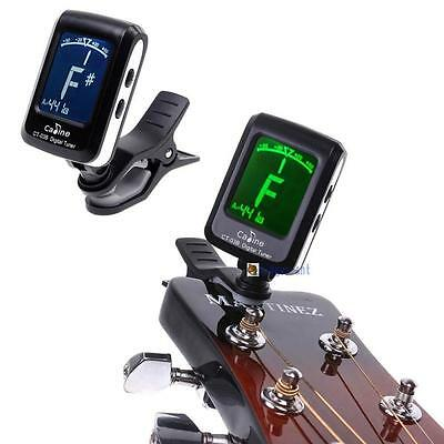 LCD Clip-on Electronic Digital Tuner For Guitar Chromatic Bass Violin Ukulele PQ