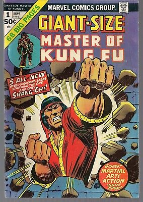 MARVEL GIANT SIZE MASTER OF KUNG-FU #1 NEW 5 STORIES & 50s YELLOW CLAW TALE FNVF