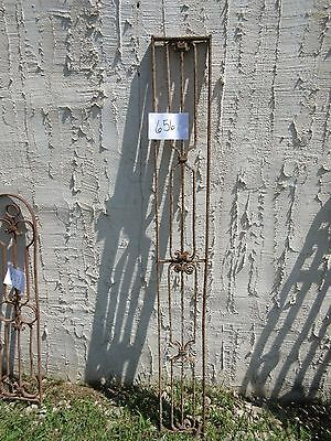 Antique Victorian Iron Gate Window Garden Fence Architectural Salvage Door #656