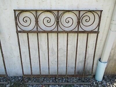 Antique Victorian Iron Gate Window Garden Fence Architectural Salvage Door #01