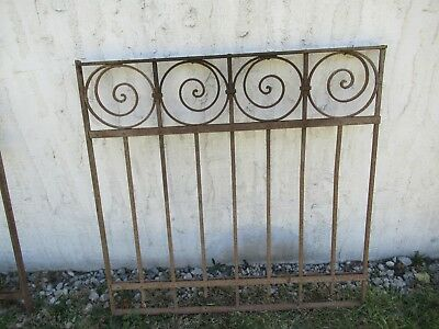Antique Victorian Iron Gate Window Garden Fence Architectural Salvage Door #010