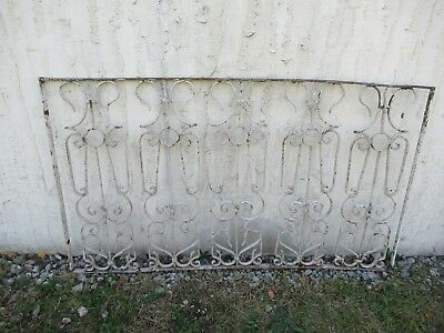 Antique Victorian Iron Gate Window Garden Fence Architectural Salvage Door #050