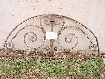 Antique Victorian Iron Gate Window Garden Fence Architectural Salvage #798