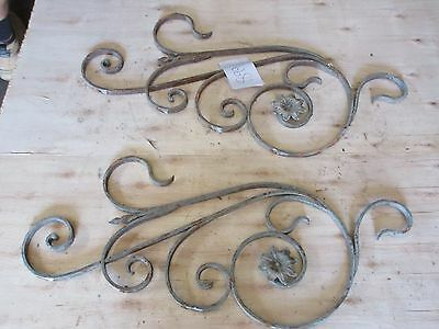 Antique Victorian Iron Gate Window Garden Fence Architectural Salvage #899