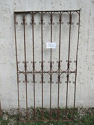 Antique Victorian Iron Gate Window Garden Fence Architectural Salvage Door #682