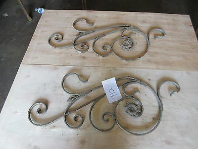 Antique Victorian Iron Gate Window Garden Fence Architectural Salvage #912