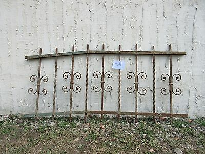 Antique Victorian Iron Gate Window Garden Fence Architectural Salvage #929