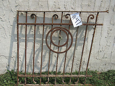 Antique Victorian Iron Gate Window Garden Fence Architectural Salvage Door #47