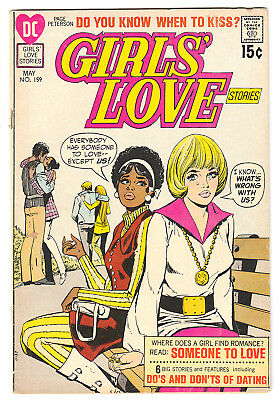 GIRLS' LOVE STORIES 159 (1971) Mod fashion cover; FINE+ 6.5