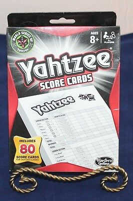 New Yahtzee Score Pads 80 Cards Board Game Hasbro 06100