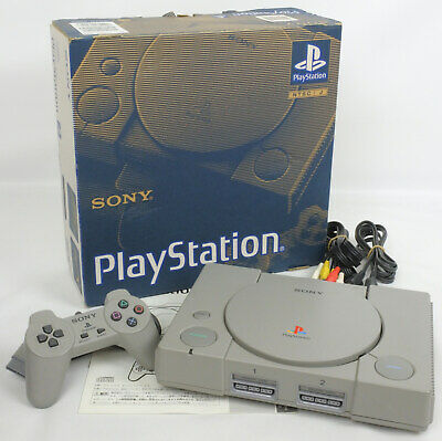 PS1 Play Station Playstation Console System Boxed SCPH-3000 SONY Tested A6973644