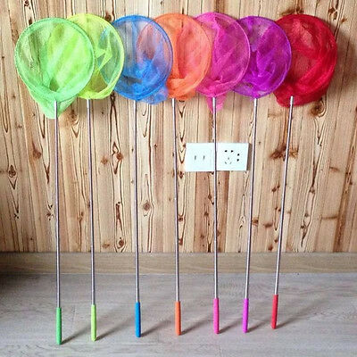 Extendable Kids Children Fishing Net Telescopic Handle Butterfly Insect Fish Toy