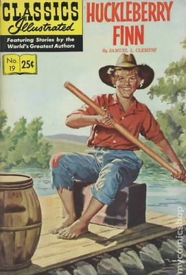 Classics Illustrated 019 Huckleberry Finn #21 1970 VG 4.0 Stock Image Low Grade