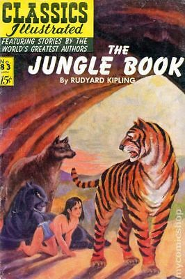 Classics Illustrated 083 The Jungle Book #3 1951 VG 4.0 Stock Image Low Grade