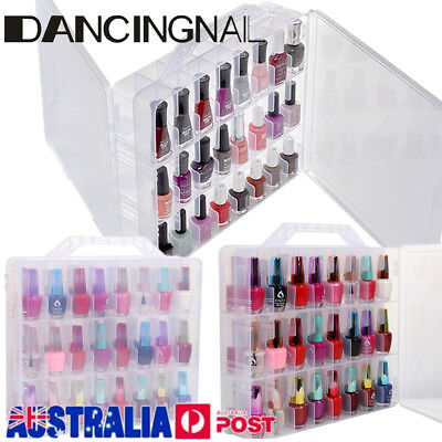 Nail Polish Holder Display Container Case Organizer Storage 48 Lattice Salon New