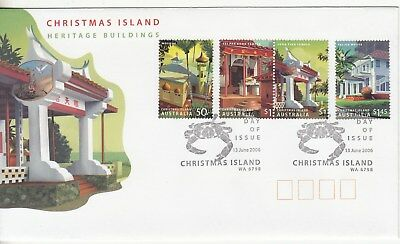 Chirstmas island: 2006 Heritage Buildings set of 4. First day Cover. Going cheap