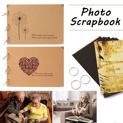 MECO Photo Image Album Book Hardcover Black Pages Anniversary Scrapbook Deluxe