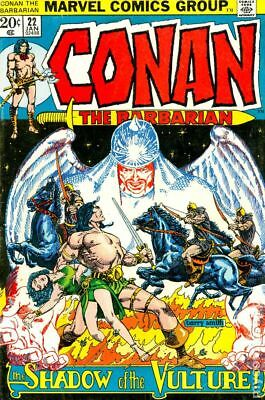Conan the Barbarian (Marvel) #22 1973 VG 4.0 Stock Image Low Grade