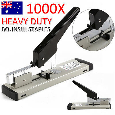 100/ Sheet Bookbinding Stapling Capacity Heavy Duty Metal Stapler 1000Staple.