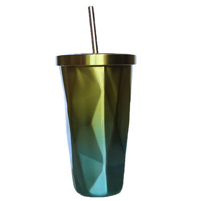 1pc Insulated Stainless Steel 500ml Travel Beverage Tumbler Coffee Mug Cup
