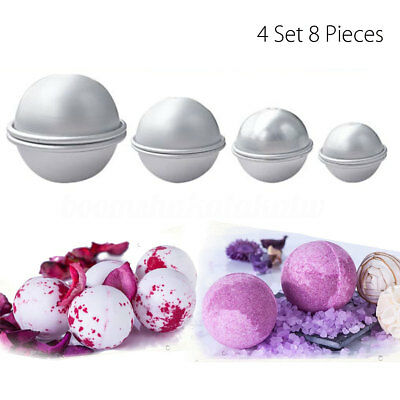 8pcs 4 Set 4 size Aluminium Metal Bath Bomb Desert Fizzy Crafting DIY Mould Tool