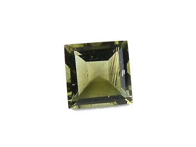 0.89cts SQUARE 6mm BAQUETTE CUT moldavite faceted cutted gem BRUS1684