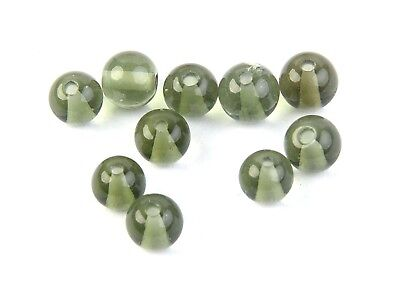 MOLDAVITE ROUND BEAD POLISHED DRILLED 1 PCS! 4mm - 0.11g #BRUS1666