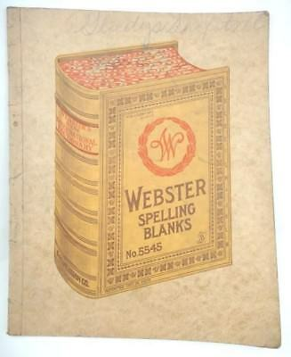 antique HANDWRITTEN SPELLING BOOK gladys shofotall