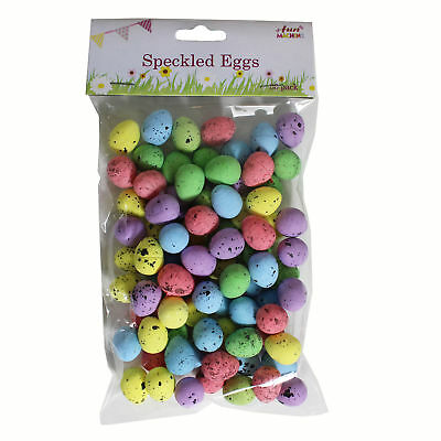 Easter Arts Craft Decorations Egg Hunt - 06477 - 80 Pack Mini Speckled Eggs